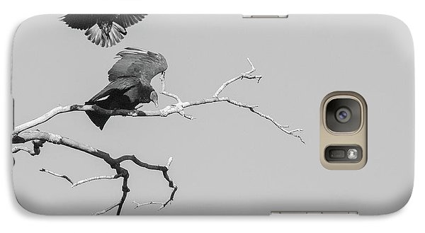 Galaxy Case featuring the photograph Attack On A Buzzard by Carolyn Dalessandro