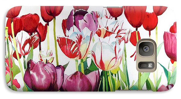 Galaxy Case featuring the painting Attention by Elizabeth Carr