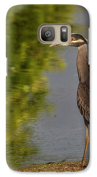 Galaxy Case featuring the photograph Attentive Heron by Jean Noren