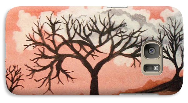 Galaxy Case featuring the painting Atumn Trees by Connie Valasco