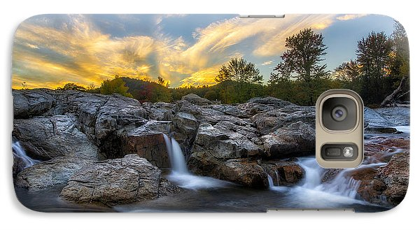 Galaxy Case featuring the photograph Auasble River Sunset 2 by Mark Papke
