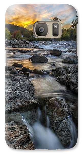 Galaxy Case featuring the photograph Auasble River Sunset by Mark Papke