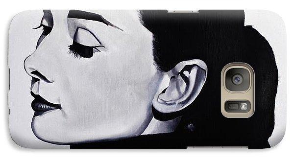 Audrey Hepburn 1 Galaxy S7 Case by Brian Broadway