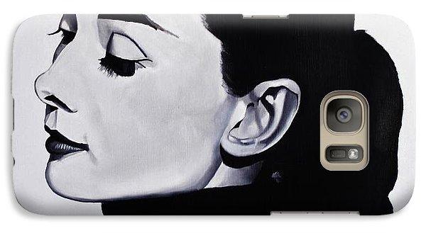 Audrey Hepburn 1 Galaxy Case by Brian Broadway
