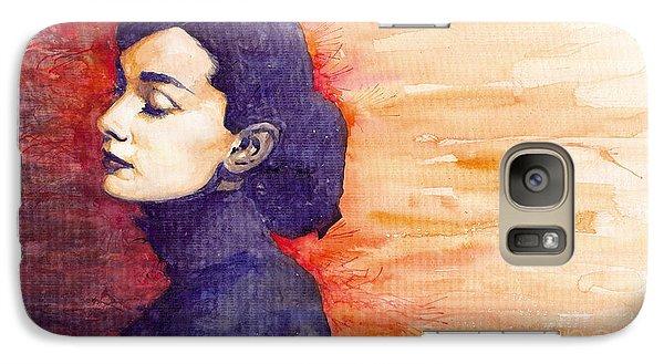 Audrey Hepburn 1 Galaxy S7 Case by Yuriy  Shevchuk