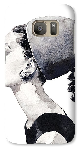 Audrey Hepburn For Vogue 1964 Couture Galaxy S7 Case by Laura Row