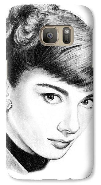 Audrey Hepburn Galaxy S7 Case by Greg Joens
