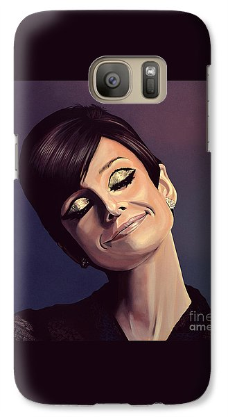 Audrey Hepburn Painting Galaxy Case by Paul Meijering