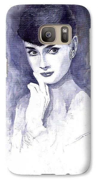 Audrey Hepburn  Galaxy Case by Yuriy  Shevchuk