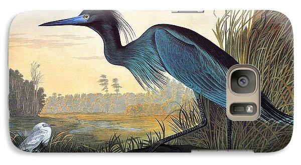 Audubon: Little Blue Heron Galaxy S7 Case by Granger