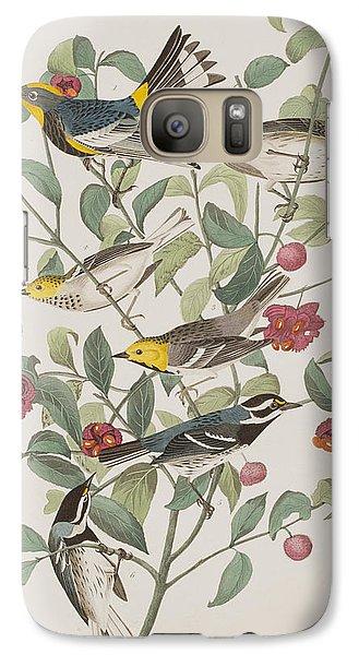Audubons Warbler Hermit Warbler Black-throated Gray Warbler Galaxy S7 Case by John James Audubon