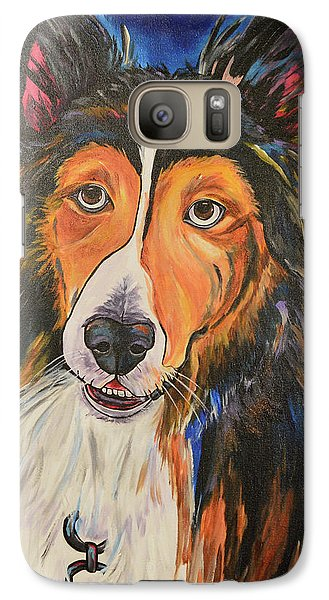 Galaxy Case featuring the painting Augie by Patti Schermerhorn