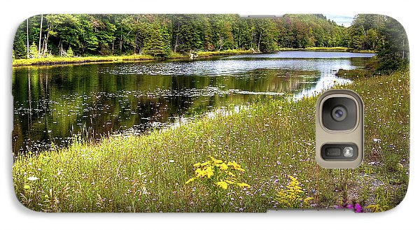 Galaxy Case featuring the photograph August Flowers On The Pond by David Patterson