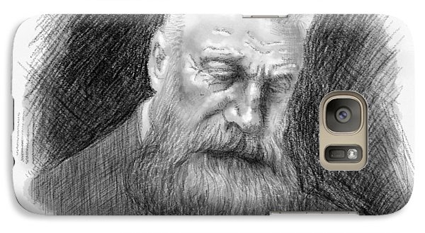 Galaxy Case featuring the drawing Auguste Rodin by Antonio Romero