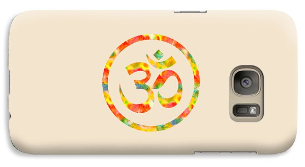 Galaxy Case featuring the painting Aum Symbol Abstract Digital Painting by Georgeta Blanaru
