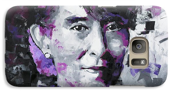 Galaxy Case featuring the painting Aung San Suu Kyi by Richard Day