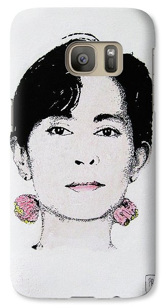 Galaxy Case featuring the painting Aung San Suu Kyi by Roberto Prusso