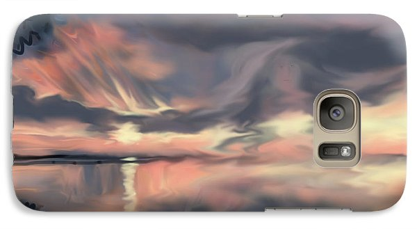 Galaxy Case featuring the painting Aunt Jo by Jean Pacheco Ravinski