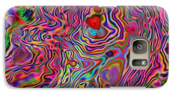 Galaxy Case featuring the painting Aura Lights by Roxy Riou