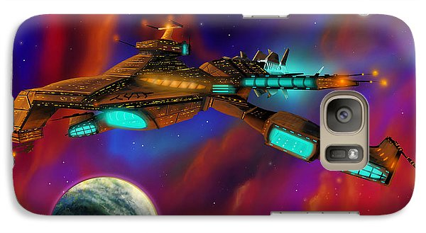 Galaxy Case featuring the painting Auroborus 2015 by James Christopher Hill