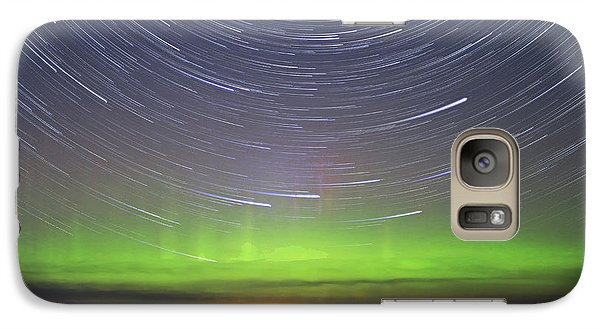 Galaxy Case featuring the photograph Aurora And Startrails by Charline Xia
