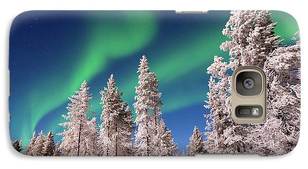 Galaxy Case featuring the photograph Aurora Borealis by Delphimages Photo Creations