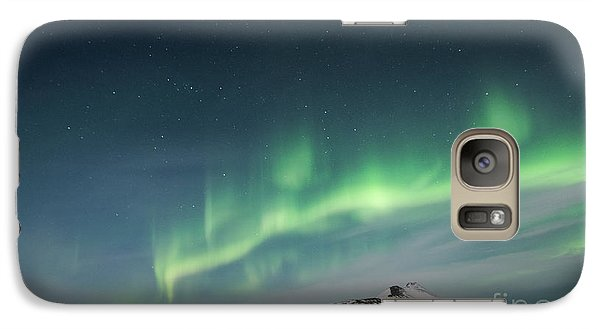 Galaxy Case featuring the photograph Aurora Borealis Over Iceland by Sandra Bronstein