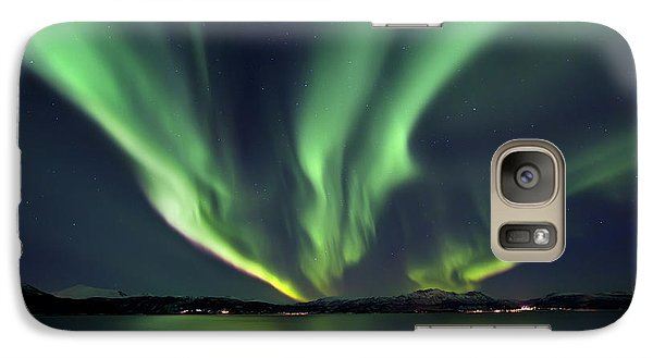 Aurora Borealis Over Tjeldsundet Galaxy S7 Case