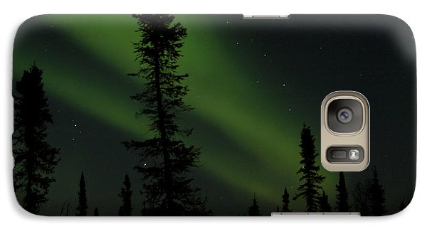 Aurora Borealis The Northern Lights Interior Alaska Galaxy S7 Case by Sharon Mau