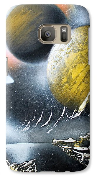 Galaxy Case featuring the painting Aurora by Greg Moores
