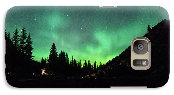 Aurora On Moraine Lake Galaxy S7 Case by Alex Lapidus