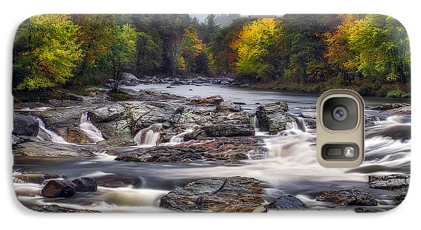 Galaxy Case featuring the photograph Ausable Cascades by Mark Papke