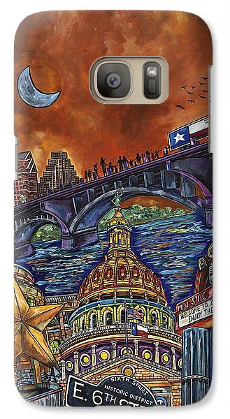 Galaxy Case featuring the painting Austin Montage by Patti Schermerhorn