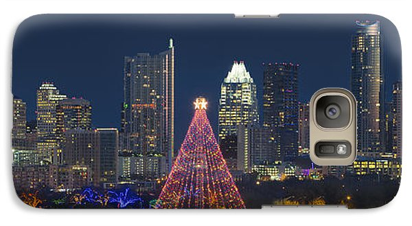 Austin Panorama Of The Trail Of Lights And Skyline Galaxy S7 Case