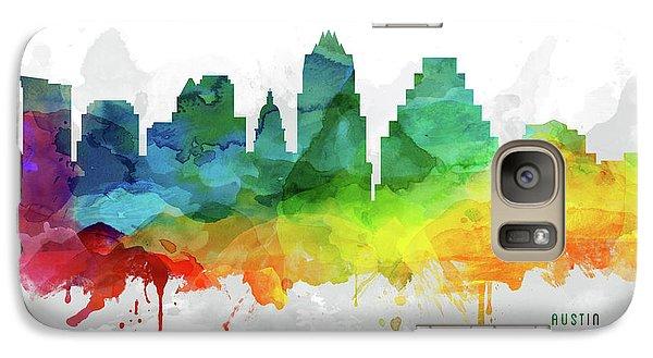 Austin Skyline Mmr-ustxau05 Galaxy S7 Case by Aged Pixel