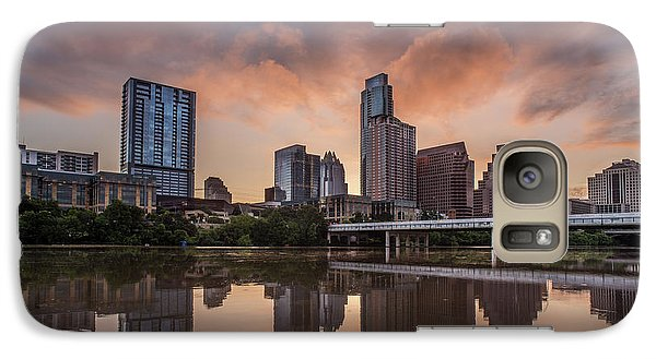 Austin Skyline Sunrise Reflection Galaxy S7 Case