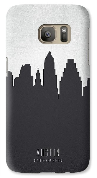 Austin Texas Cityscape 19 Galaxy S7 Case by Aged Pixel