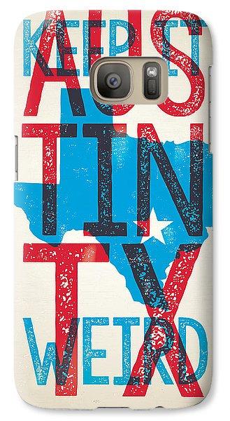 Johnny Cash Galaxy S7 Case - Austin Texas - Keep Austin Weird by Jim Zahniser