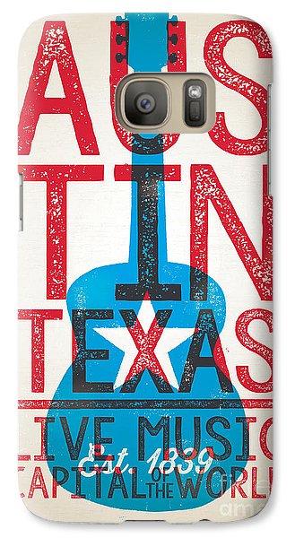 Johnny Cash Galaxy S7 Case - Austin Texas - Live Music by Jim Zahniser