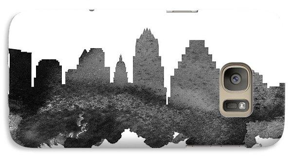 Austin Texas Skyline 18 Galaxy Case by Aged Pixel