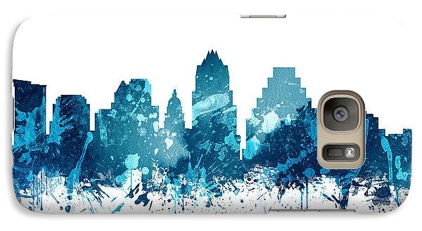 Austin Texas Skyline 19 Galaxy S7 Case by Aged Pixel