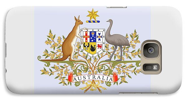 Galaxy Case featuring the drawing Australia Coat Of Arms by Movie Poster Prints