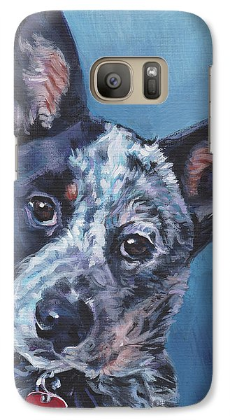 Galaxy Case featuring the painting Australian Cattle Dog by Lee Ann Shepard