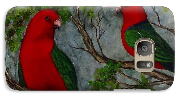 Galaxy Case featuring the painting Australian King Parrot by Renate Voigt