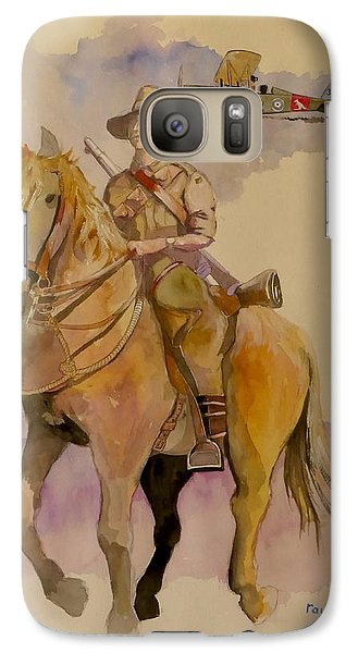 Galaxy Case featuring the painting Australian Light Horse Regiment. by Ray Agius