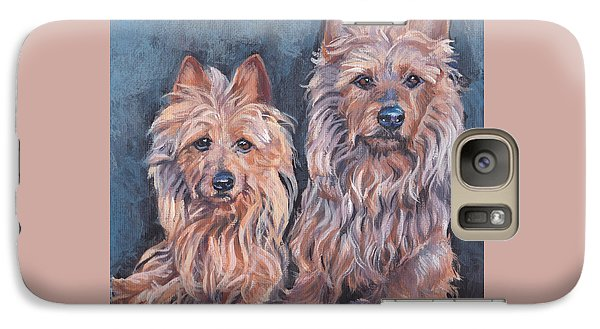 Galaxy Case featuring the painting Australian Terriers by Lee Ann Shepard