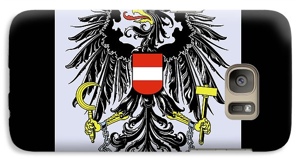 Galaxy Case featuring the drawing Austria Coat Of Arms by Movie Poster Prints