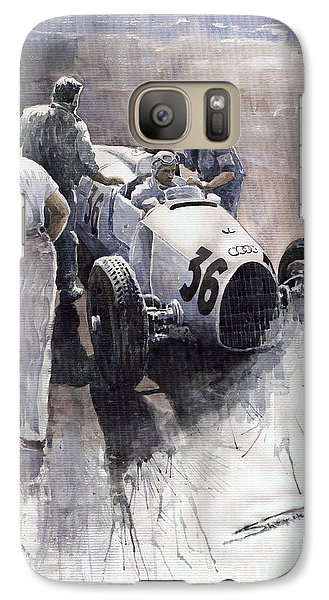 Sports Galaxy S7 Case - Auto Union B Type 1935 Italian Gp Monza B Rosermeyer by Yuriy Shevchuk