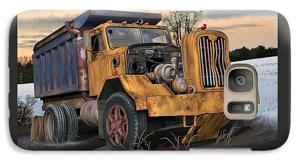 Galaxy Case featuring the digital art Autocar Dumptruck by Stuart Swartz