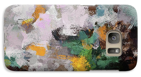 Galaxy Case featuring the painting Autumn Abstract Painting by Ayse Deniz